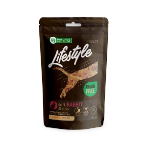 NP Lifestyle Snacks Mini Soft Rabbit Strips 75g cat 