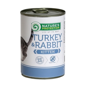 Natures Protection KITTEN indyk & królik 400g cat