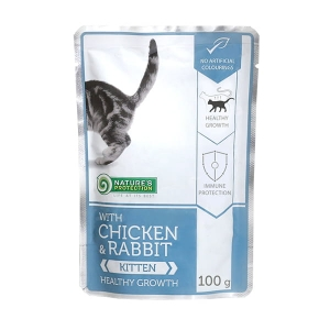 Nature's Protection Chicken & Rabbit Kitten 100g saszetka