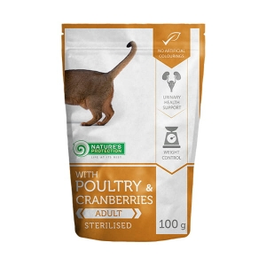 Nature's Protection Poultry & Cranberries Sterilised 100g sasz.