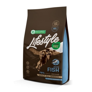 NP Lifestyle Grain Free White Fish with Krill Adult All Breeds 1,5kg dog