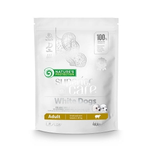Natures Protection SC White Dogs Adult Small Breed with Lamb 0,4 kg