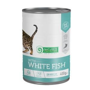 Nature's Protection Adult Cat biała ryba 400g