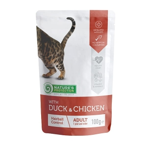 "NP Adult Cat Duck & Chicken ""Hairball Control"" 100g"