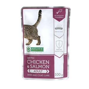 "Nature's Protection Chicken & Salmon Adult ""Skin and coat care"" 100g"