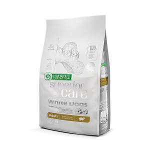 Natures Protection SC White Dogs Adult Small Breed with Lamb 1,5 kg